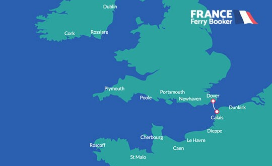 Dover to Calais Ferry Route