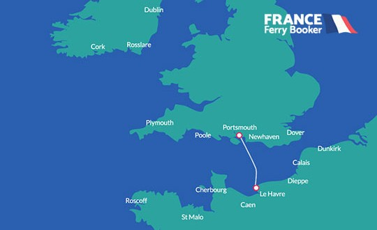 Portsmouth to Le Havre France Ferry Booker